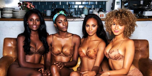 """There is a """"Nude"""" UK lingerie line that matches women of color with a bras and panties in four delicious huesBerry, Café Au Lait, Caramel, and Cinnamonand isbased off the makeup foundation you use. Oft times labels don't provide or represent the diversity that is prevalent and that's where Nubian Skin emerges. Founder Ade Hassan told ELLE.com they're so incredibly grateful their biggest supporters has been from the U.S currently their sold in Nordstorm and are hoping that their brand can reach enough stores that every woman of color can experiece the perfect """"nude"""". Hassan's objective is to """"nude"""" all women. Hassan believe's that fashion allows women to express themselves both literally and figuratively and """"nude"""" collection allows that giving the other brands something to think about. Nubian Skin lingerie ranges from $16.00 to $60.00 atNordstrom.com."""